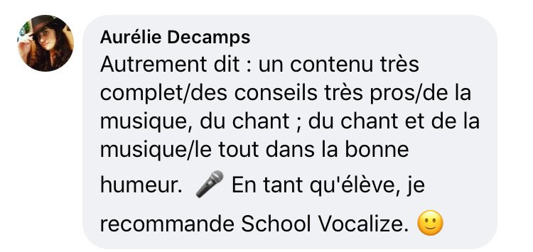meilleure école de chant en ligne