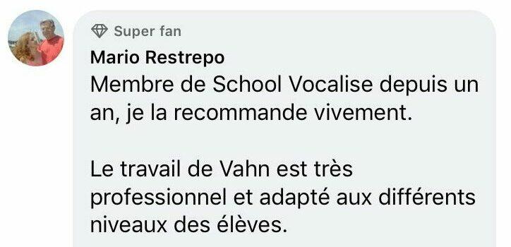 school vocalize témoignage élève
